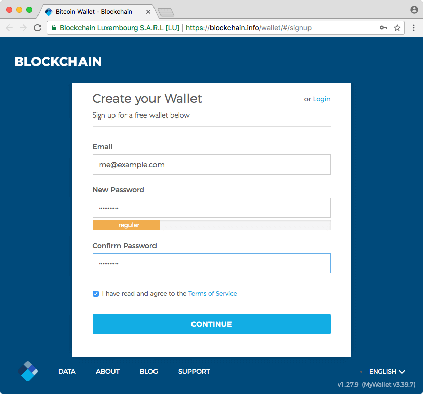 wallet-new-blockchain
