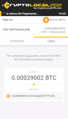 indirizzo bitcoin payout)
