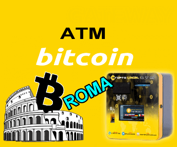 Rome, the capital of digital gold Installed Bitcoin ATM