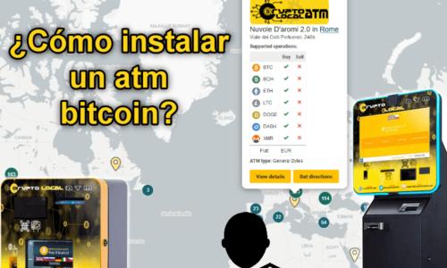 ¿Cómo instalar un atm bitcoin?