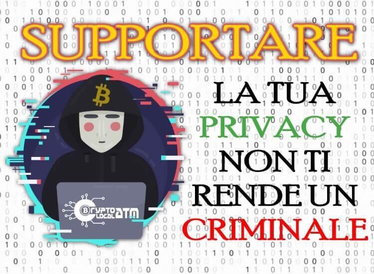 5 motivi per cui supportare la Privacy non ti rende un criminale