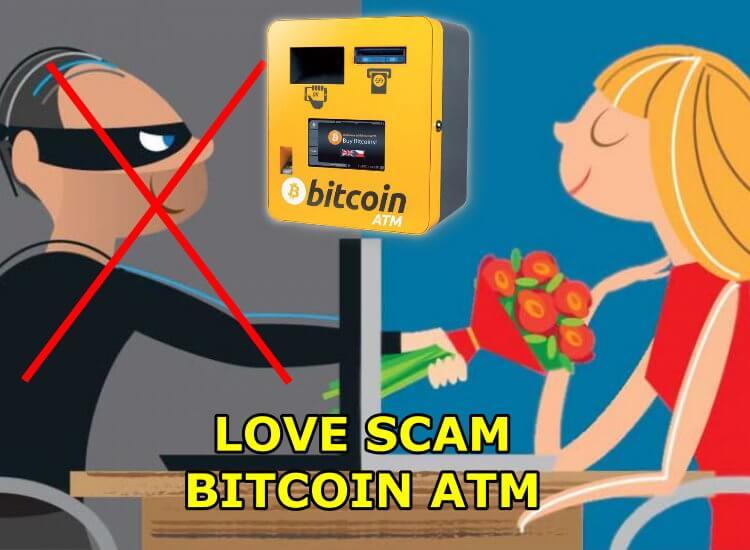 Cuidado con las estafas de amor en bitcoin atm